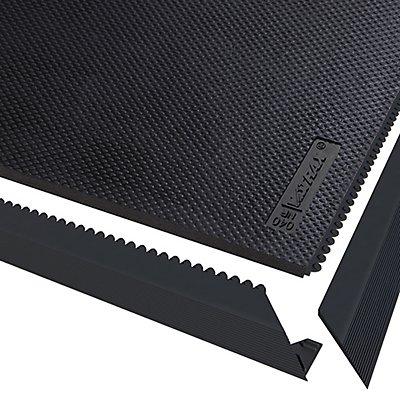 Système emboîtable en caillebotis, noir - L x l x h 910 x 910 x 13 mm - caoutchouc naturel