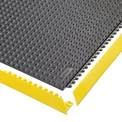Bodenplatten-Stecksystem, ESD genoppt, feuerresistent - LxBxH 910 x 910 x 13 mm - schwarz, feuerresistent