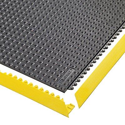 Notrax Bodenplatten-Stecksystem, ESD genoppt, feuerresistent - LxBxH 910 x 910 x 13 mm - schwarz, feuerresistent
