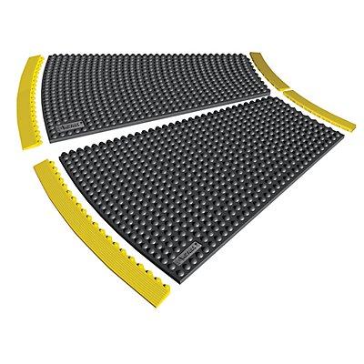 Lisière en caoutchouc-nitrile antistatique - largeur 910 mm - hauteur 13 mm