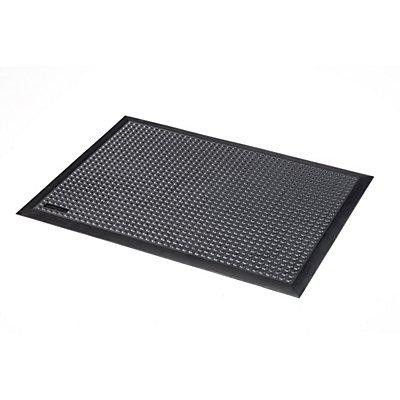 Notrax Arbeitsplatzmatte, Naturgummi ESD, genoppt - schwarz - LxBxH 900 x 600 x 13 mm