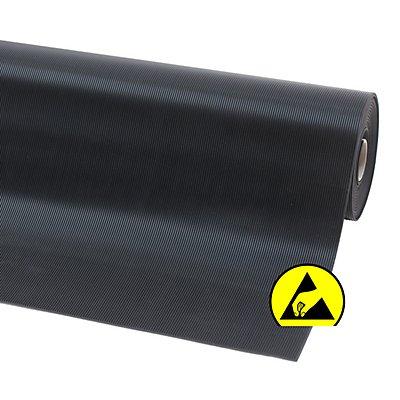 Tapis en caoutchouc naturel antistatique - L x l 1500 x 1200 mm - noir