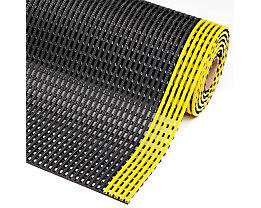 Anti-Rutschmatte, Höhe 12 mm - Breite 600 mm, pro lfd. m - schwarz/gelb