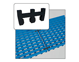 Pièce de liaison noire - pour tapis antidérapant - pour longueur et largeur