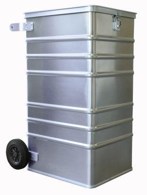 Alu-Datenentsorgungsbehälter - Außen-LxBxH 575 x 690 x 1010 mm, mit Einwurfschlitz