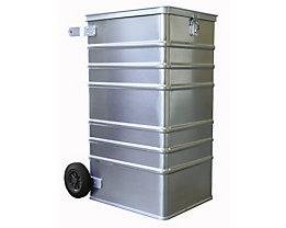 Alu-Datenentsorgungsbehälter - Außen-LxBxH 575 x 690 x 1010 mm