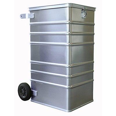 Gmöhling Alu-Datenentsorgungsbehälter - Außen-LxBxH 575 x 690 x 1010 mm, mit Einwurfschlitz