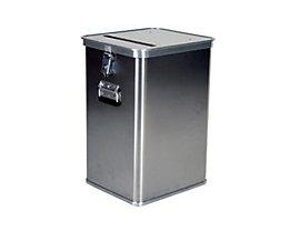 Alu-Datenentsorgungsbehälter - Außen-LxBxH 435 x 385 x 650 mm