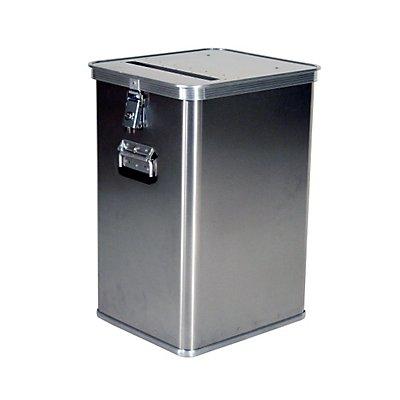 Gmöhling Alu-Datenentsorgungsbehälter - Außen-LxBxH 435 x 385 x 650 mm, mit Einwurfschlitz
