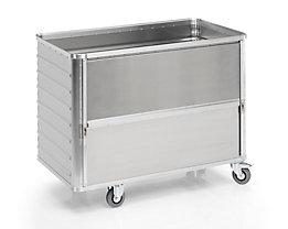 Alu-Kastenwagen, absenkbare Seitenwand - Außen-LxBxH 1280 x 675 x 985 mm