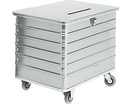 Alu-Datenentsorgungsbehälter - Außen-LxBxH 1050 x 700 x 840 mm