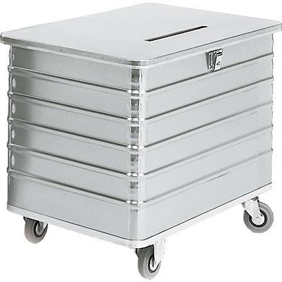 Gmöhling Alu-Datenentsorgungsbehälter - Außen-LxBxH 1050 x 700 x 840 mm, mit Einwurfschlitz