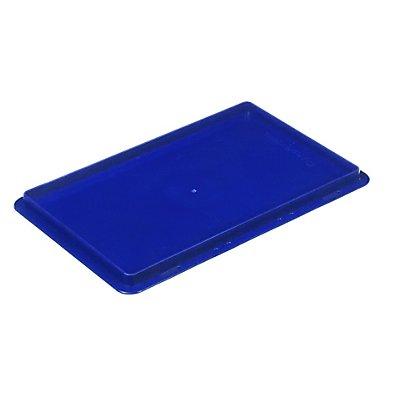Deckel für RL-KLT-Behälter - aus PP, blau, LxBxH 297 x 198 x 27 mm
