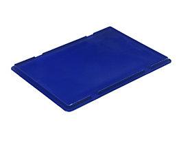 Auflagedeckel für RL-KLT-Behälter - aus PP, blau, LxBxH 396 x 297 x 27 mm