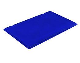 Auflagedeckel für RL-KLT-Behälter - aus PP, blau, LxBxH 594 x 396 x 27 mm