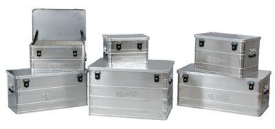 QUIPO Aluminiumbox ohne Stapelecken - Inhalt 29 l, Außen-LxBxH 430 x 330 x 275 mm