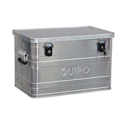 QUIPO Aluminiumbox ohne Stapelecken - Inhalt 70 l, Außen-LxBxH 595 x 390 x 380 mm