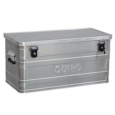 QUIPO Aluminiumbox ohne Stapelecken - Inhalt 90 l, Außen-LxBxH 780 x 380 x 380 mm