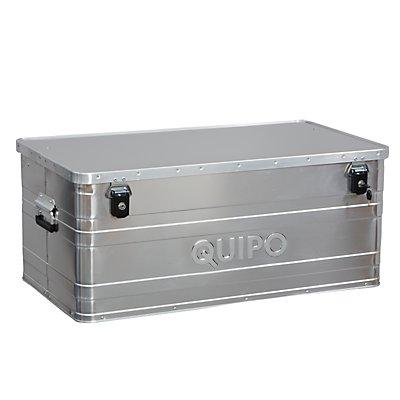 QUIPO Aluminiumbox ohne Stapelecken - Inhalt 140 l, Außen-LxBxH 900 x 490 x 380 mm