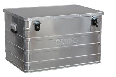 QUIPO Aluminiumbox ohne Stapelecken - Inhalt 184 l, Außen-LxBxH 790 x 560 x 487 mm