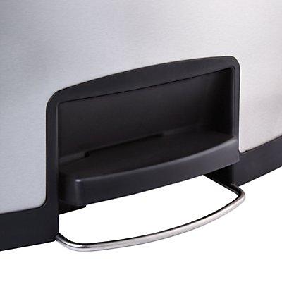 Rubbermaid Edelstahl-Tretabfallsammler, Breite 326 mm - HxT 555 x 427 mm, 1 Sammeleinheit, schwarzer Rand
