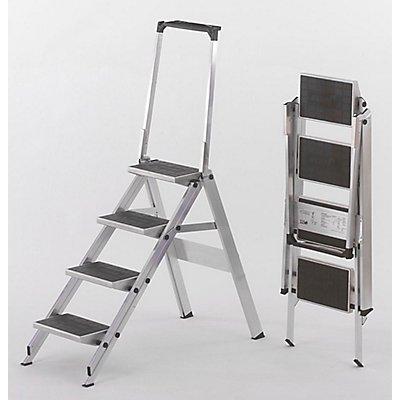 Alu-Klapptreppe - Stufen Alu mit PVC-Belag
