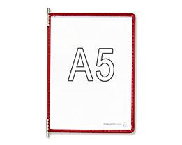 Tarifold Klarsichttafel - VE 10 Stk, für DIN A5, rot