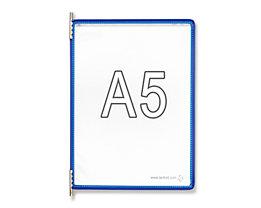 Tarifold Klarsichttafel - VE 10 Stk, für DIN A5, blau