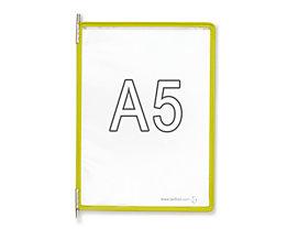 Tarifold Klarsichttafel - VE 10 Stk, für DIN A5, gelb