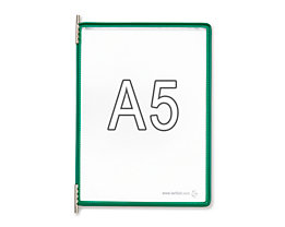 Tarifold Klarsichttafel - VE 10 Stk, für DIN A5, grün