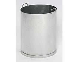 Seau intérieur pour cendrier - pour Ø 420 mm - galvanisé