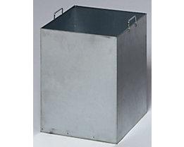 Seau intérieur pour cendrier - pour 430 x 430 mm - galvanisé