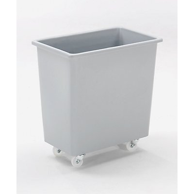Bacs rectangulaires en polyéthylène, mobiles - capacité 135 l