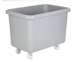 Rechteckbehälter aus Polyethylen, fahrbar - Inhalt 227 l - grau