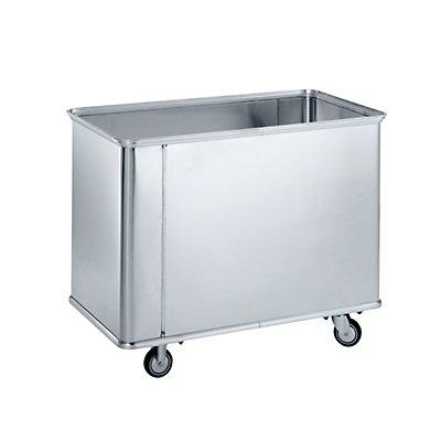 ZARGES Alu-Kastenwagen - Inhalt 150 l, ohne Sicken, mit glatten Wänden