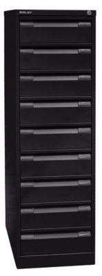 bisley  Bisley Armoire à fiches, deux rangées, format A6, 9 tiroirs, noir... par LeGuide.com Publicité