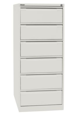 Bisley Karteischrank - doppelbahnig, DIN A5, 6 Schubladen