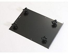 Bisley MultiDrawer™ Rollenuntersatz - für Format DIN A4 - schwarz