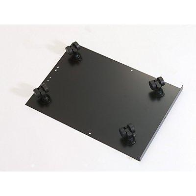 Bisley MultiDrawer™ Rollenuntersatz - für Format DIN A4 - schwarz   CB5333