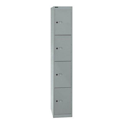 Bisley OFFICE Garderobenschrank - 1 Abteil, 4 Fächer