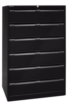 bisley  Bisley Armoire à fiches, trois rangées, format A5, 6 tiroirs, noir... par LeGuide.com Publicité