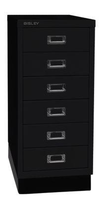 Bisley MultiDrawer™ 29er Serie - mit Sockel, DIN A4, 6 Schubladen