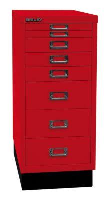 Bisley MultiDrawer™ 29er Serie - mit Sockel, DIN A4, 8 Schubladen
