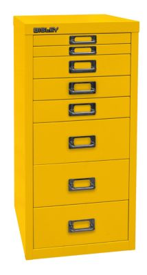 MultiDrawer™ 29er Serie - DIN A4, 8 Schubladen - gelb