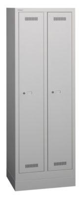 Bisley MonoBloc™ Garderobenschrank - lichtgrau, mit Sockel
