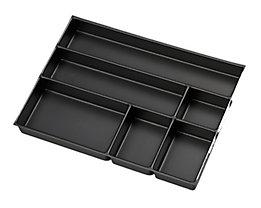 Bisley MultiDrawer™ Schreibwareneinsatz - für Format DIN A3 - 6 Fächer