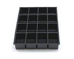 Bisley MultiDrawer™ Schubladeneinsatz - Höhe 51 mm, für DIN A4 Schubladen - 16 Fächer