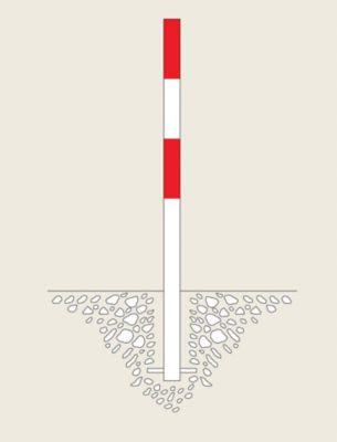 Sperrpfosten - zum Einbetonieren, Ø 60 mm