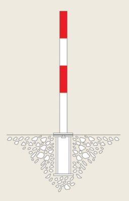 Sperrpfosten aus Stahl - zum Einbetonieren, Ø 60 mm