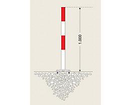 Sperrpfosten aus Stahl - zum Aufdübeln, Ø 60 mm